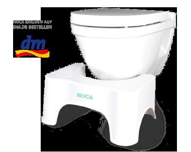 HOCA Toilettenhocker für vollständige Darmentleerung & gegen Reizdarmsyndrom RDS